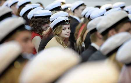 New graduates given white cap