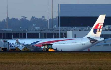Malaysia Airlines Airbus A330 passenger aircraft is seen following